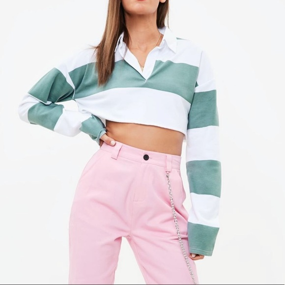 71c775a65c71d Striped Rugby Style Crop Top